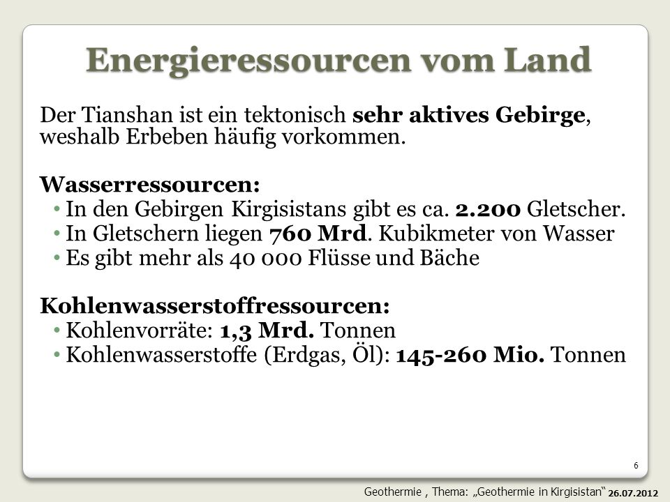 Energieressourcen vom Land