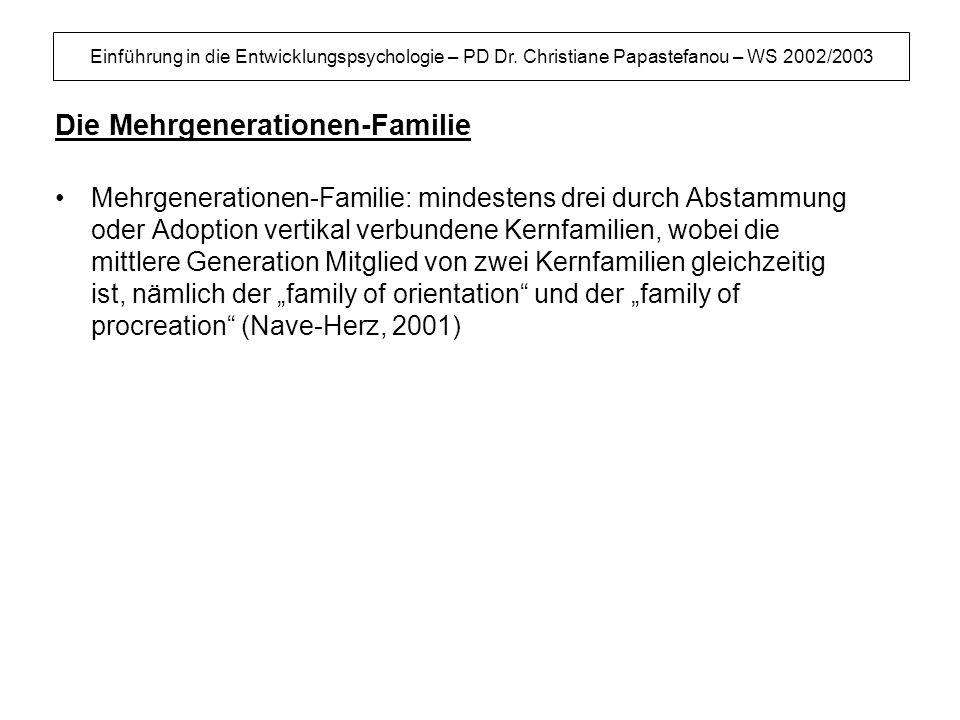 Die Mehrgenerationen-Familie
