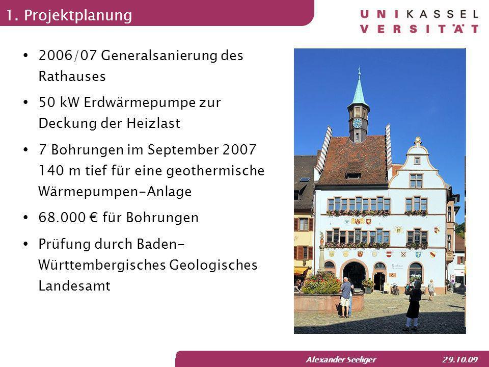 1. Projektplanung 2006/07 Generalsanierung des Rathauses