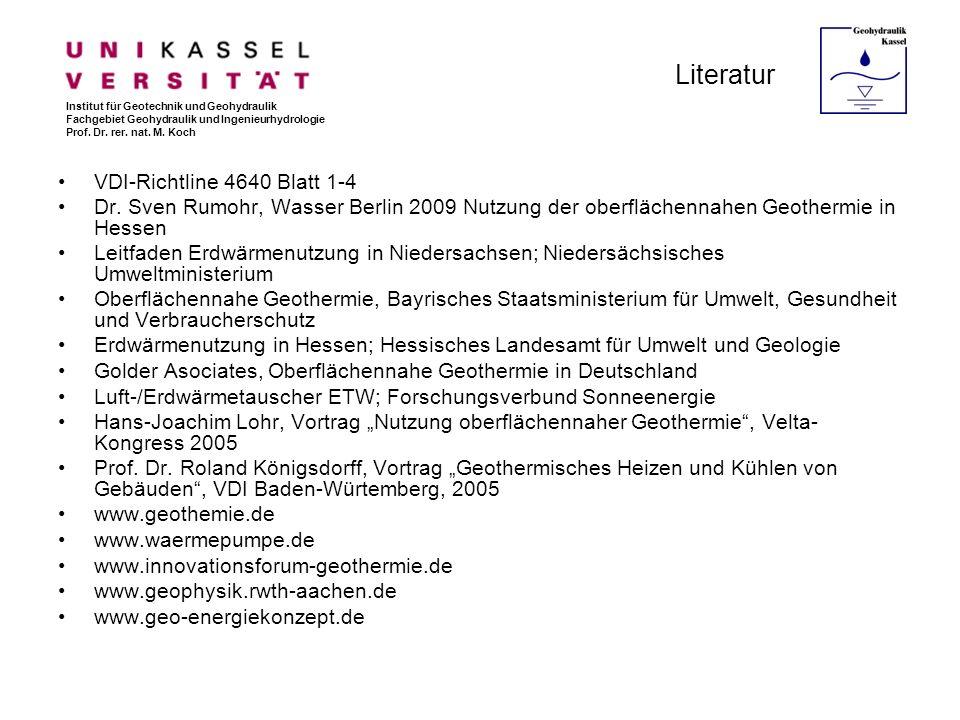 Literatur VDI-Richtline 4640 Blatt 1-4