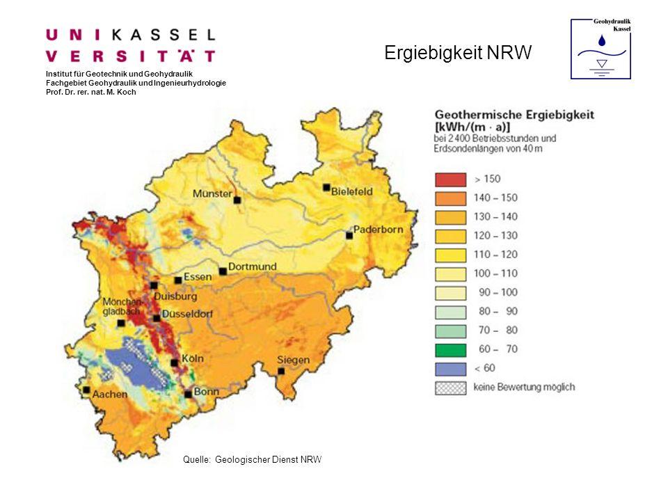 Ergiebigkeit NRW Quelle: Geologischer Dienst NRW