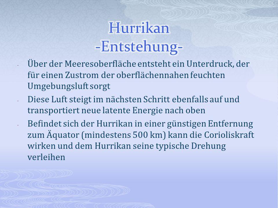 Hurrikan -Entstehung-