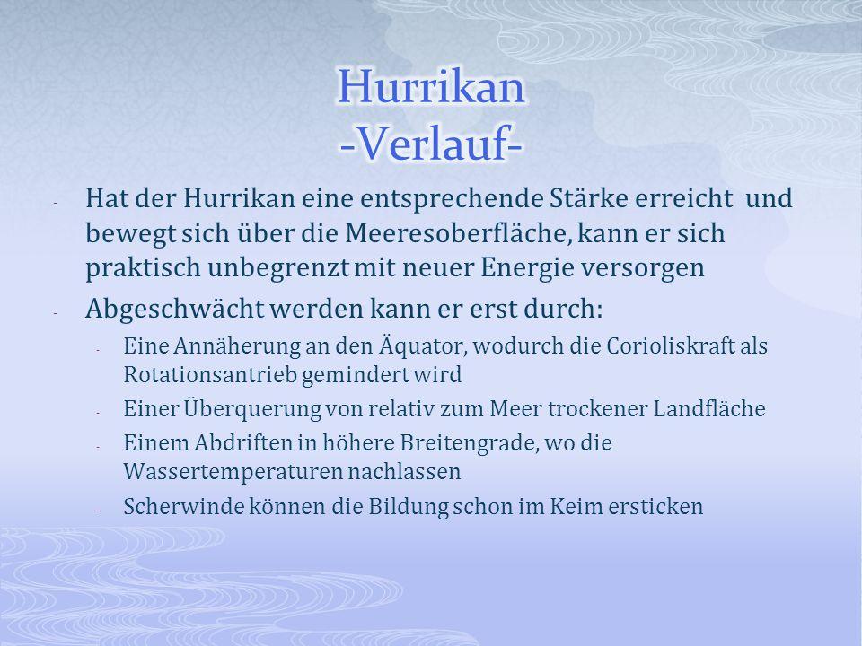 Hurrikan -Verlauf-