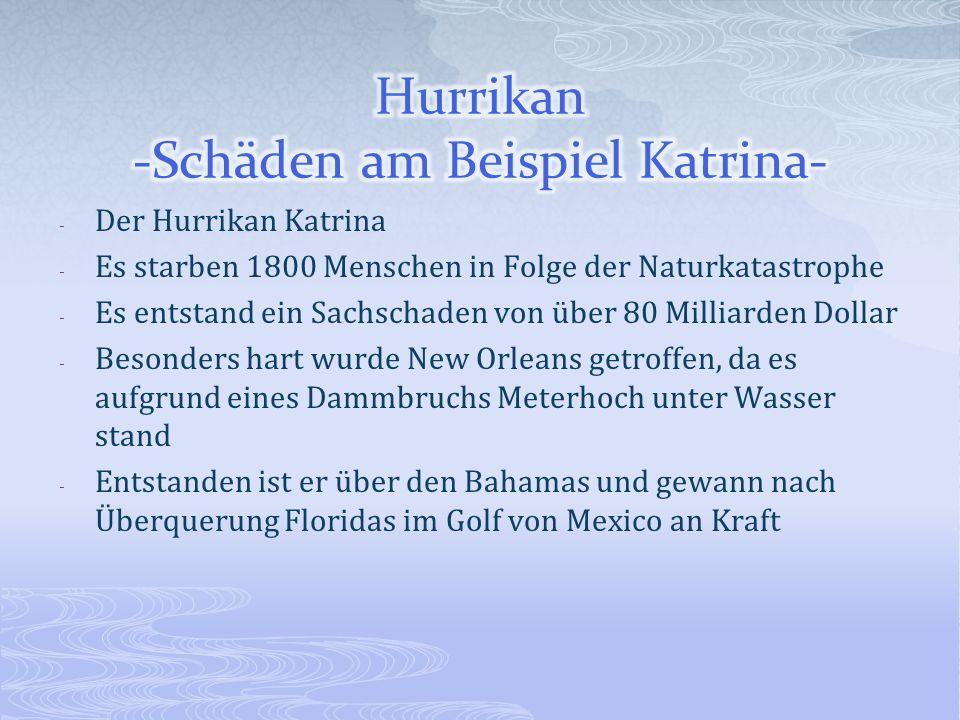 Hurrikan -Schäden am Beispiel Katrina-