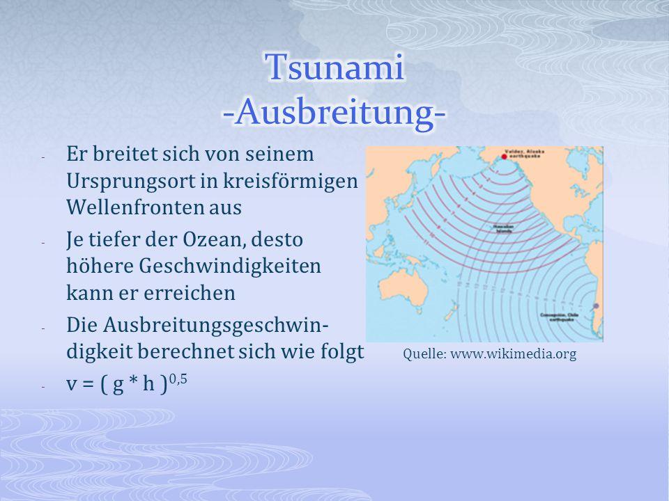 Tsunami -Ausbreitung-