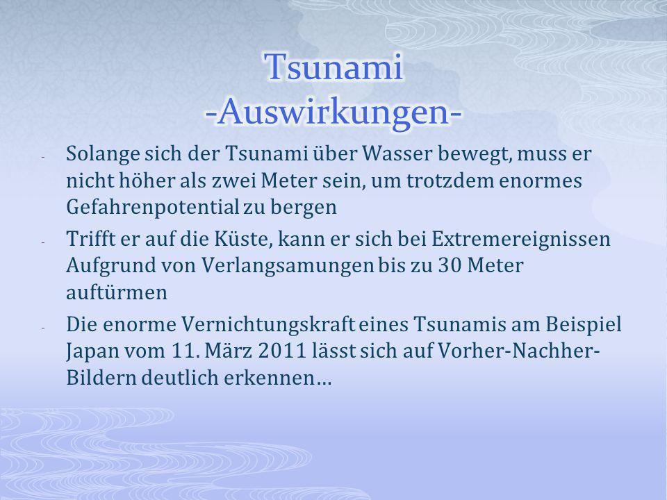 Tsunami -Auswirkungen-