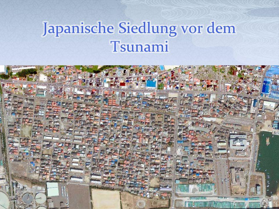 Japanische Siedlung vor dem Tsunami