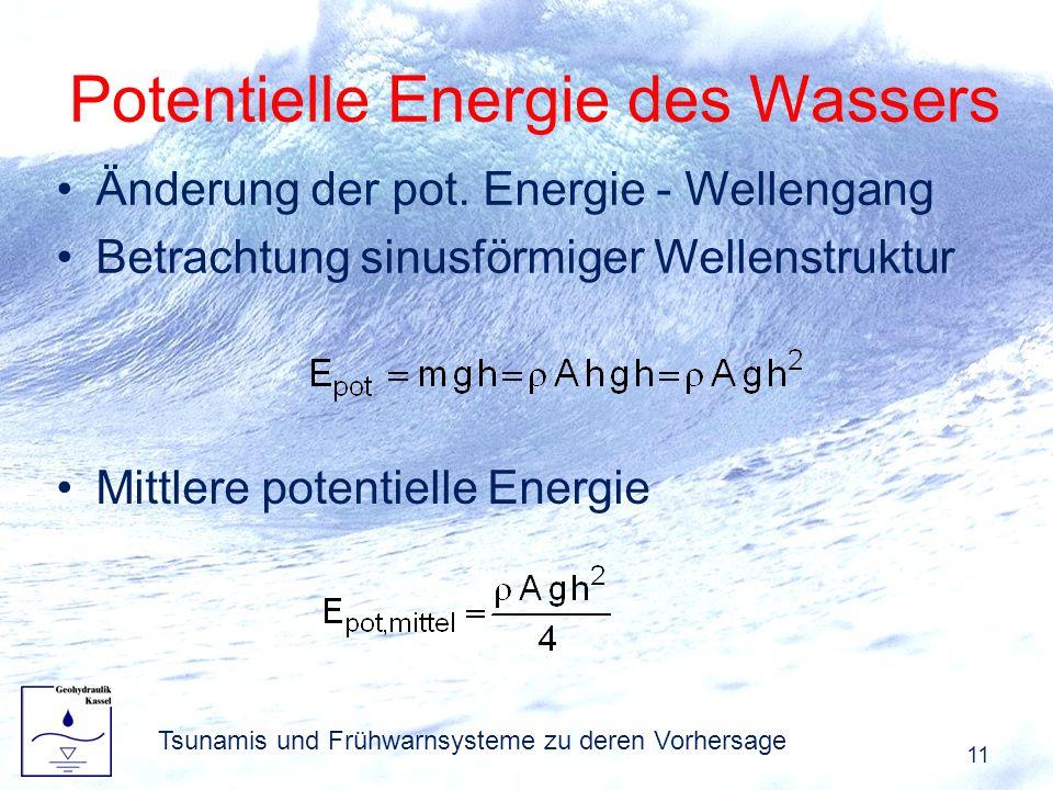 Potentielle Energie des Wassers