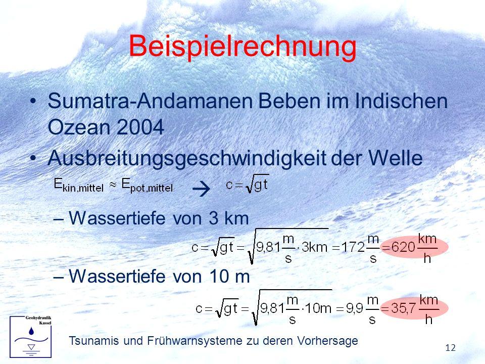 Tsunamis und Frühwarnsysteme zu deren Vorhersage