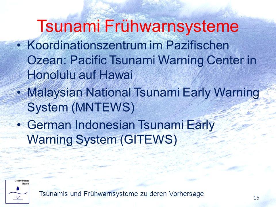 Tsunami Frühwarnsysteme