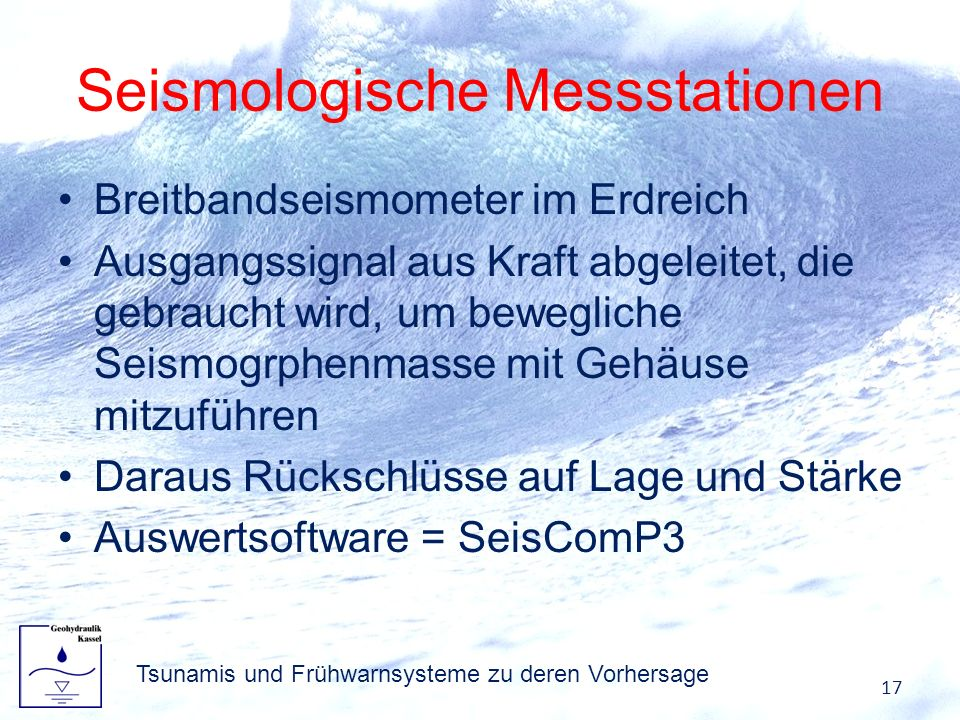 Seismologische Messstationen