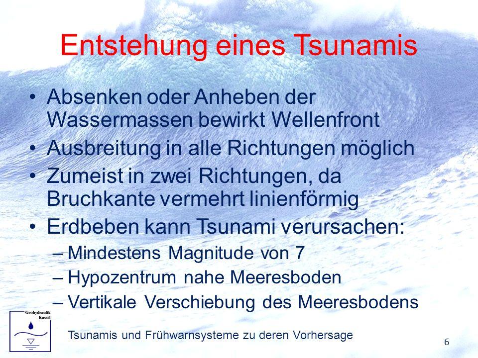 Entstehung eines Tsunamis