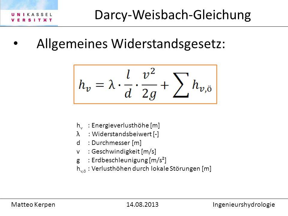 Darcy-Weisbach-Gleichung