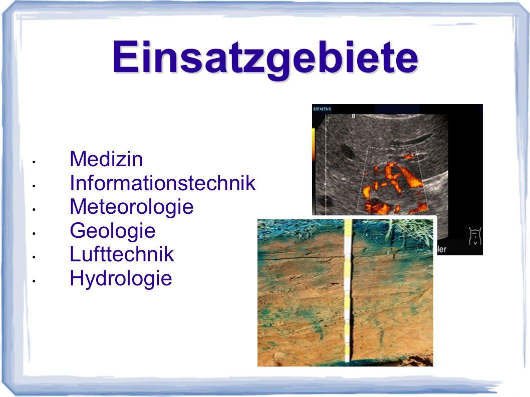 Einsatzgebiete Medizin Informationstechnik Meteorologie Geologie