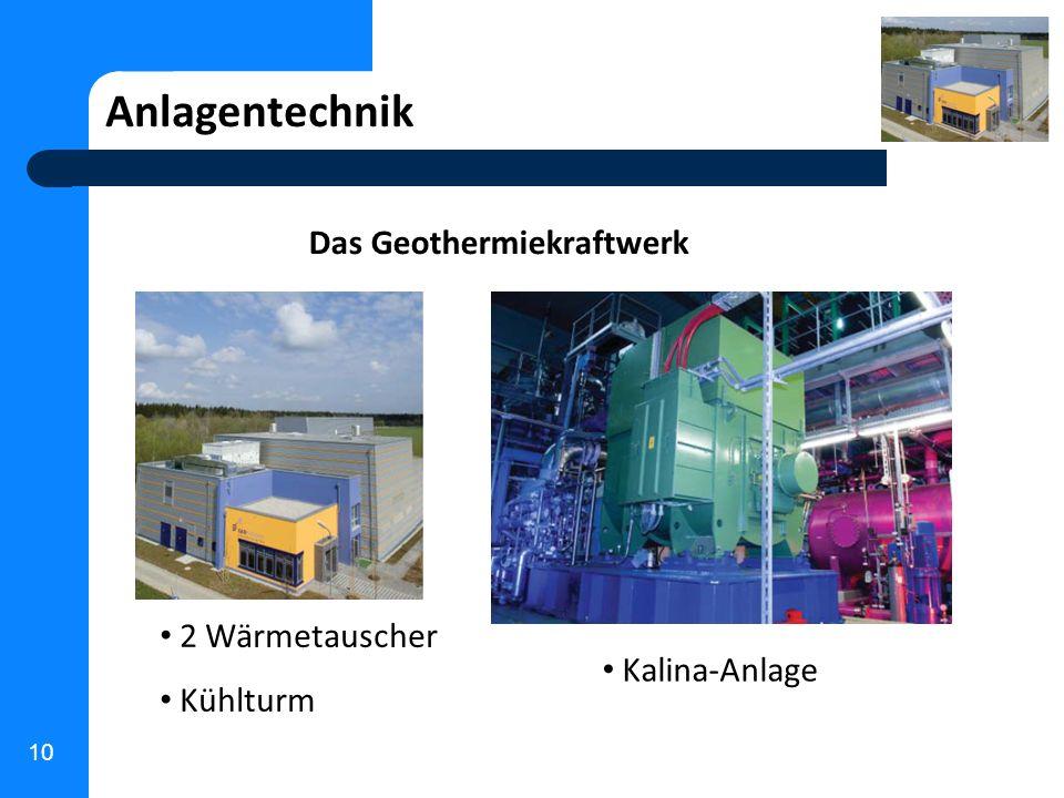 Das Geothermiekraftwerk