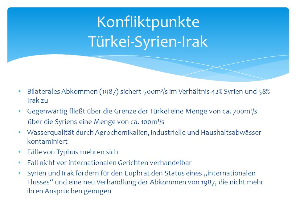 Konfliktpunkte Türkei-Syrien-Irak
