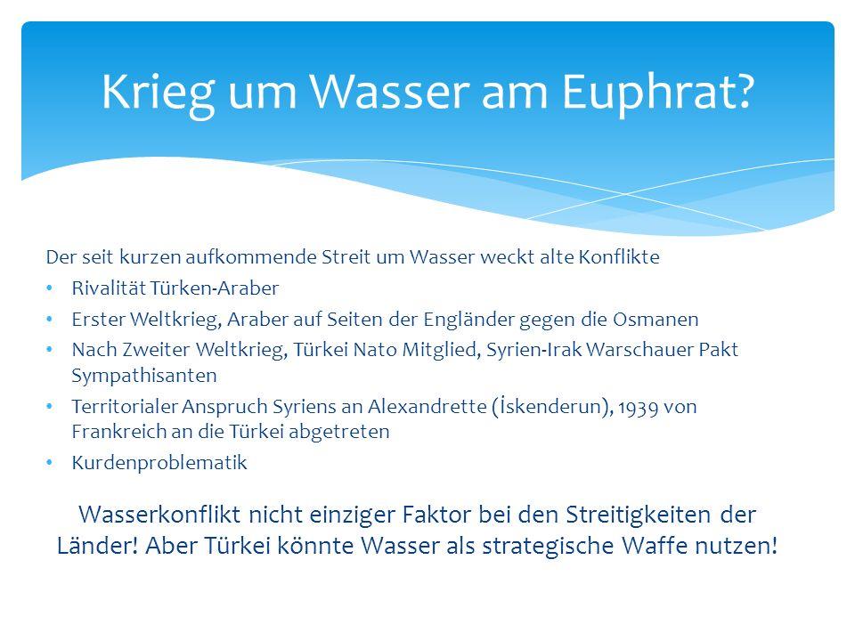 Krieg um Wasser am Euphrat