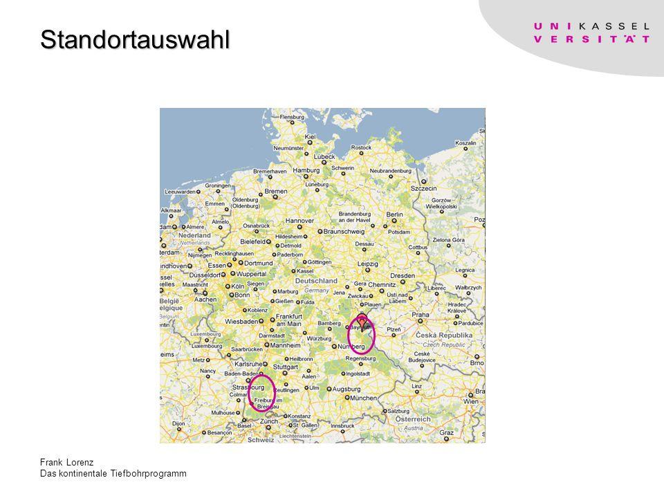 Standortauswahl Frank Lorenz Das kontinentale Tiefbohrprogramm