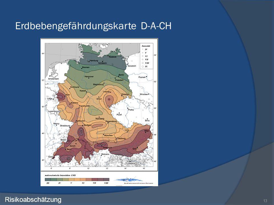 Erdbebengefährdungskarte D-A-CH