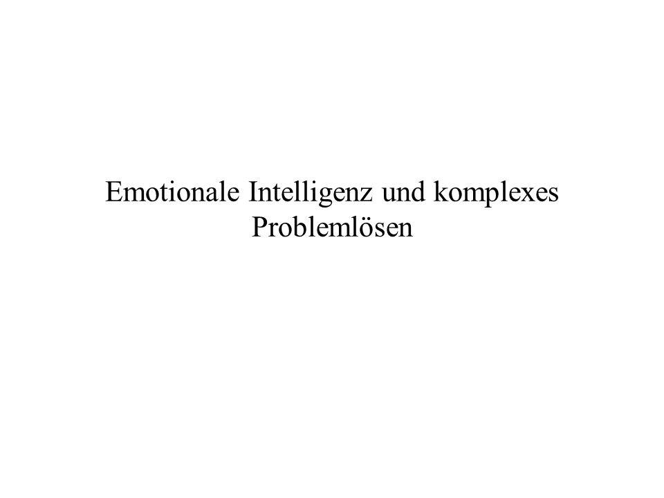 Emotionale Intelligenz und komplexes Problemlösen