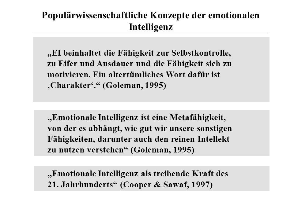 Populärwissenschaftliche Konzepte der emotionalen Intelligenz