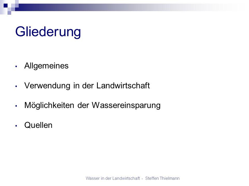 Wasser in der Landwirtschaft - Steffen Thielmann