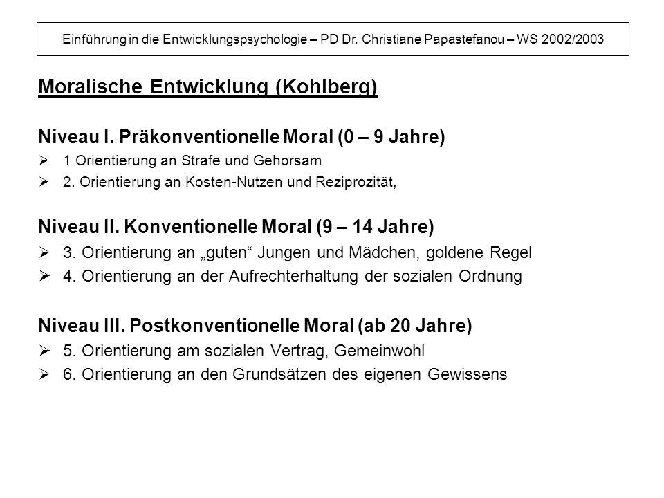 Moralische Entwicklung (Kohlberg)