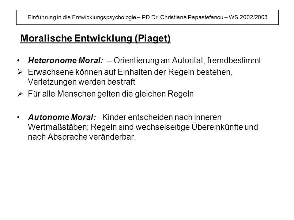 Moralische Entwicklung (Piaget)