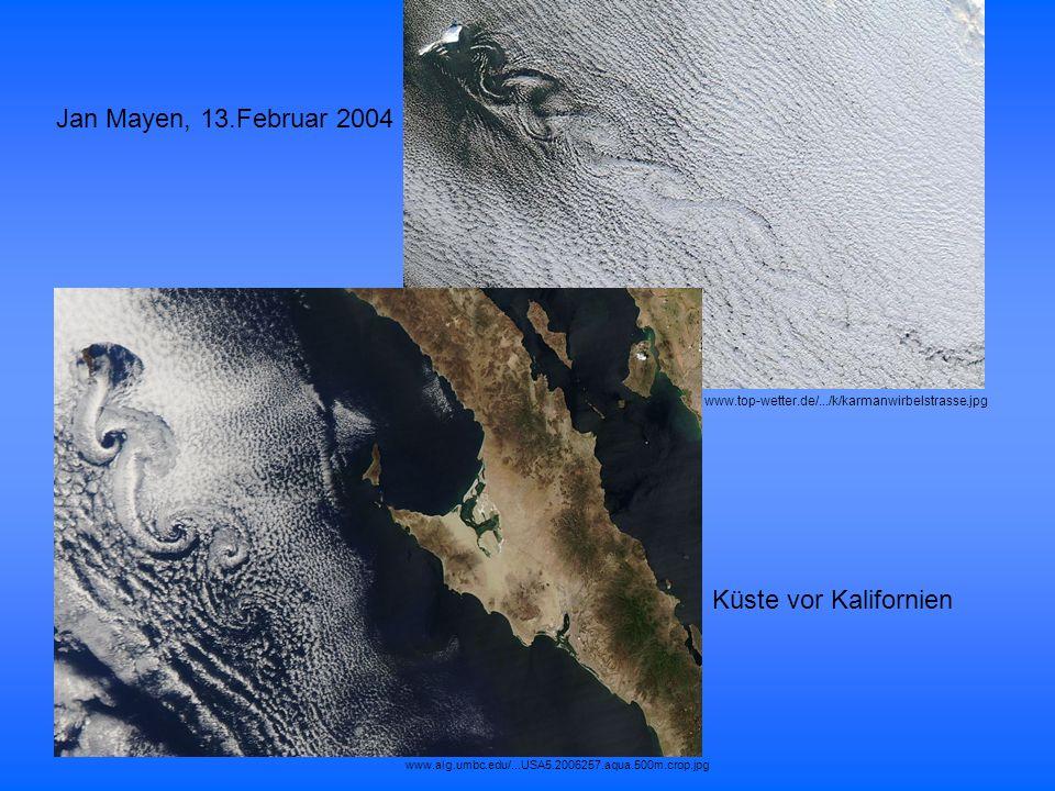 Jan Mayen, 13.Februar 2004 Küste vor Kalifornien