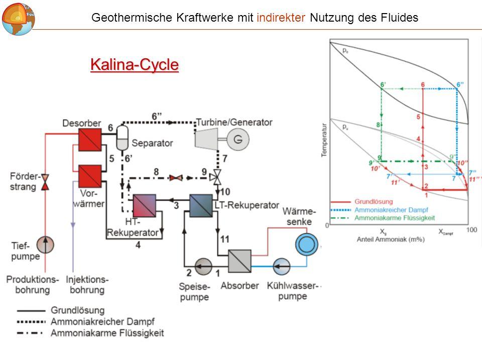 Geothermische Kraftwerke mit indirekter Nutzung des Fluides