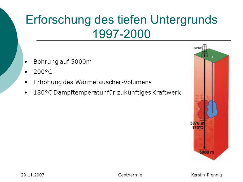 Erforschung des tiefen Untergrunds 1997-2000