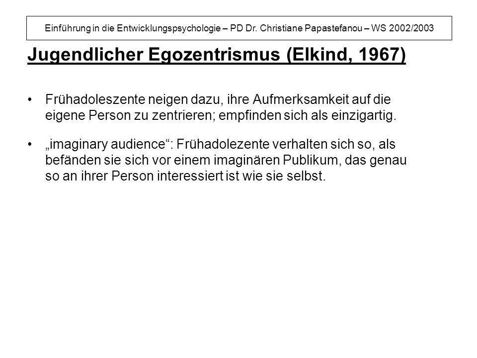 Jugendlicher Egozentrismus (Elkind, 1967)