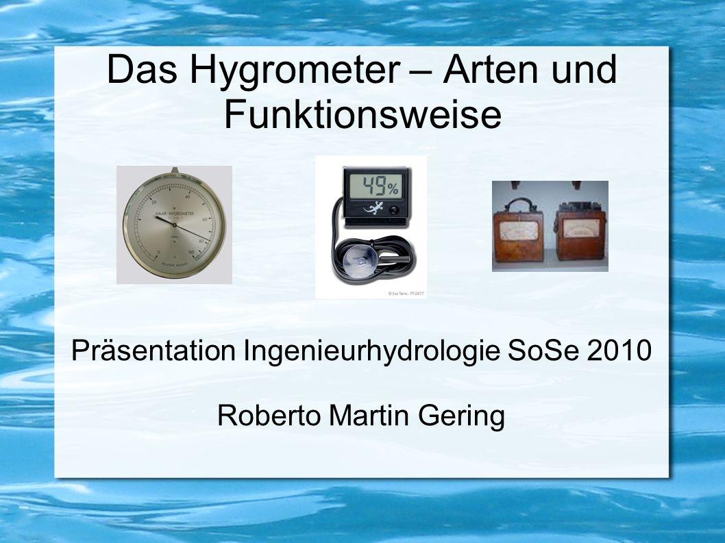 Das Hygrometer – Arten und Funktionsweise