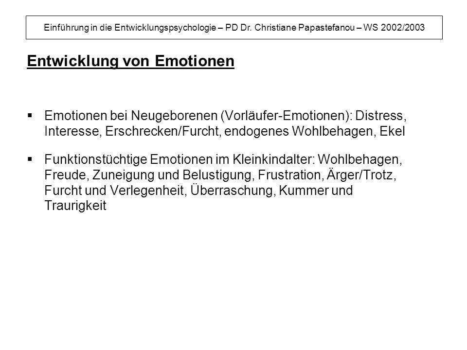 Entwicklung von Emotionen