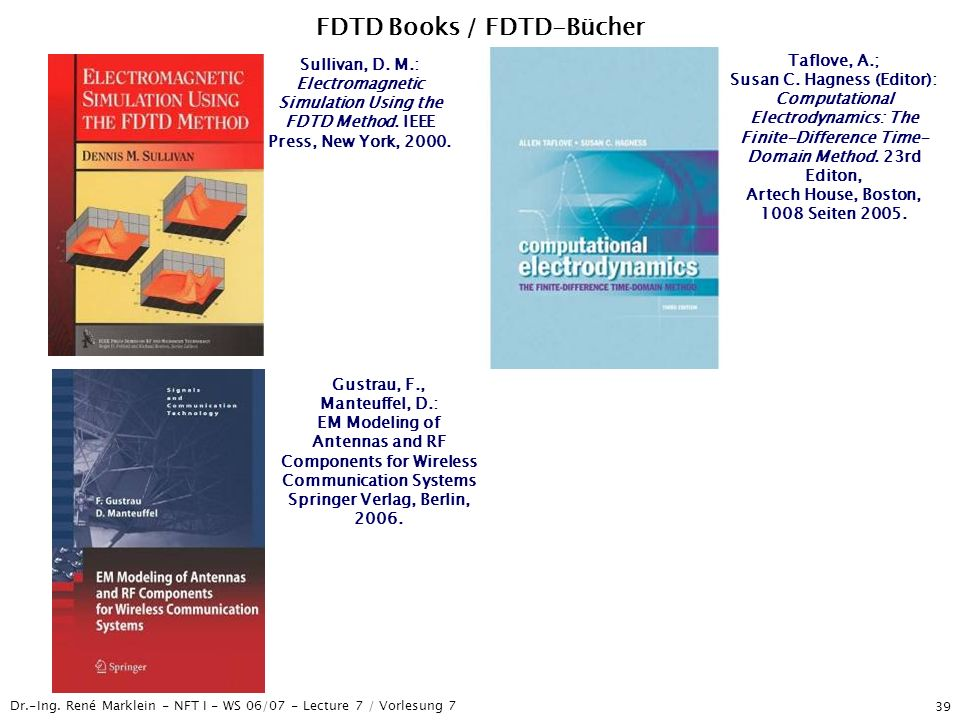 FDTD Books / FDTD-Bücher