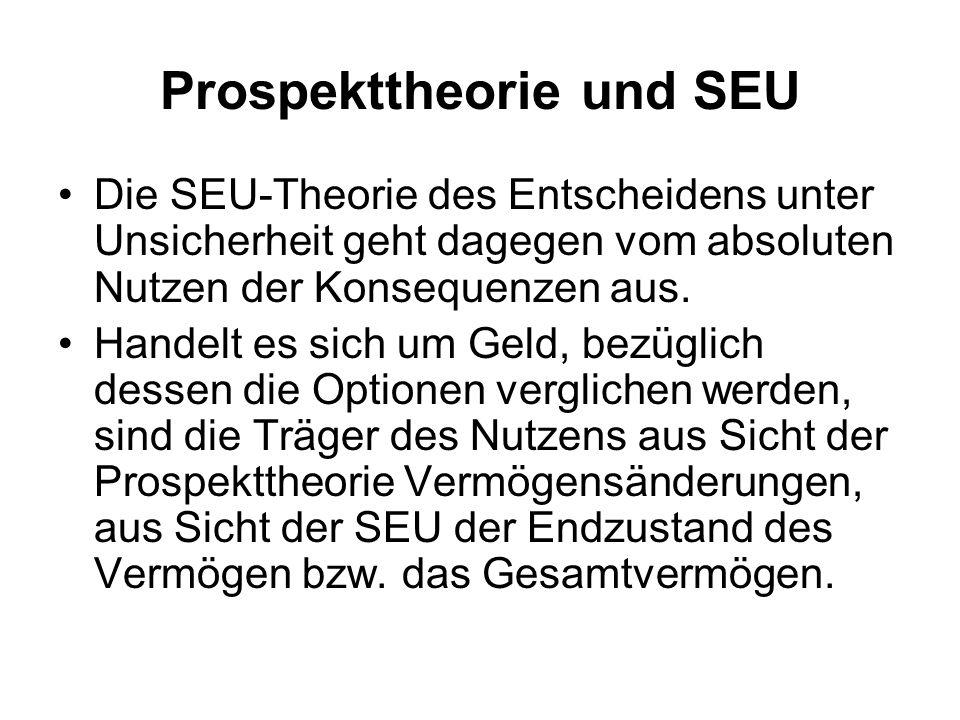 Prospekttheorie und SEU