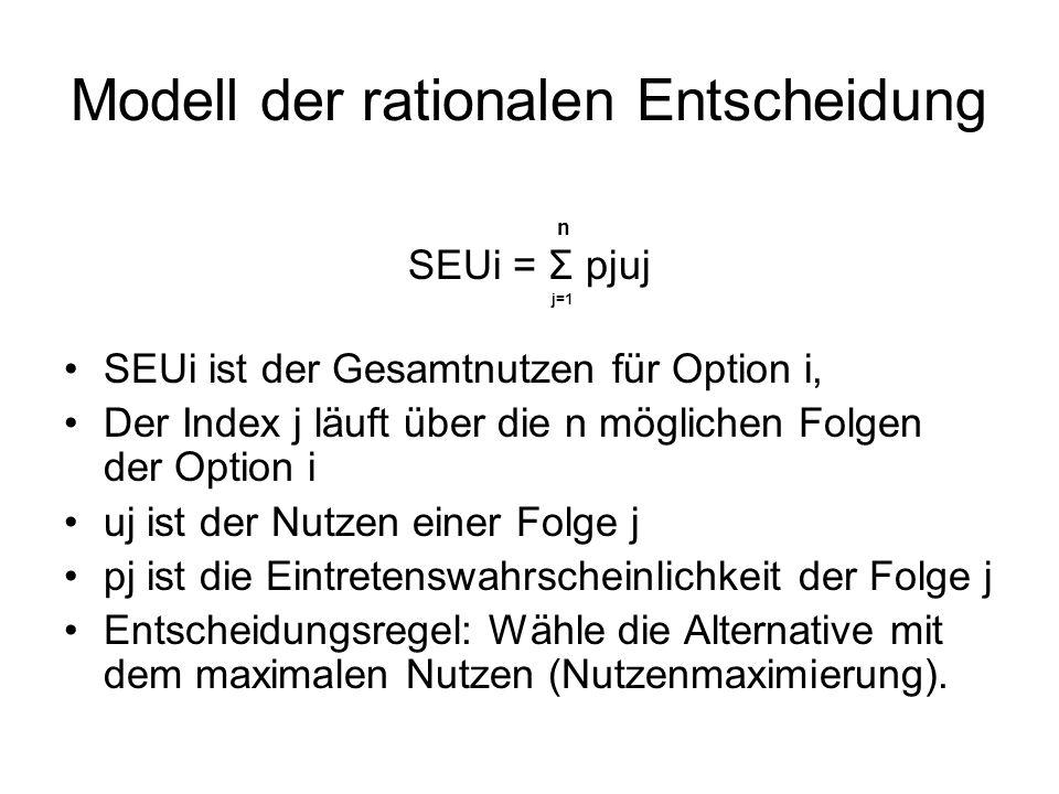 Modell der rationalen Entscheidung