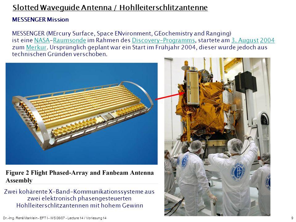 Slotted Waveguide Antenna / Hohlleiterschlitzantenne