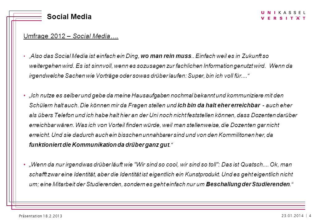 Umfrage 2012 – Social Media….
