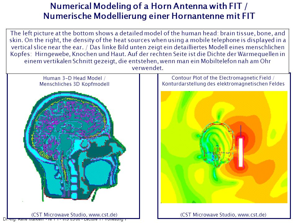 Numerical Modeling of a Horn Antenna with FIT / Numerische Modellierung einer Hornantenne mit FIT