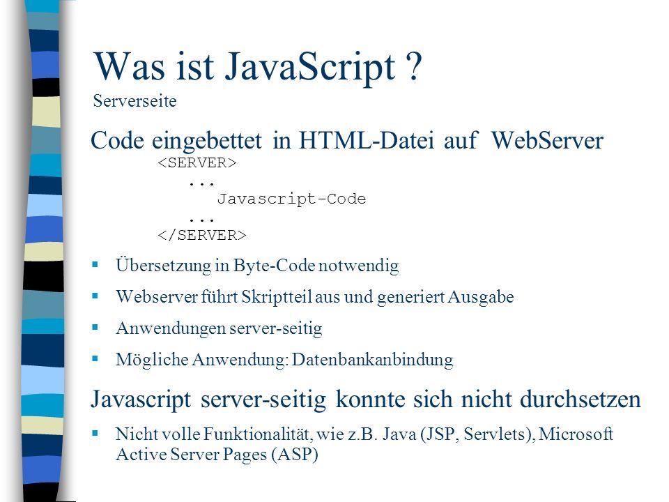 Was ist JavaScript Serverseite