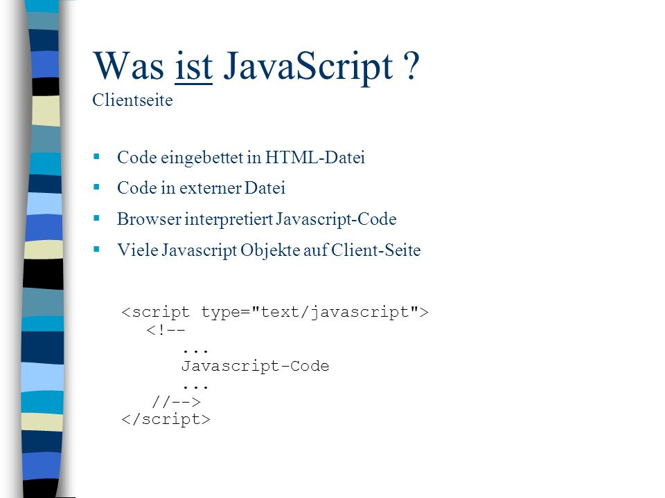 Was ist JavaScript Clientseite