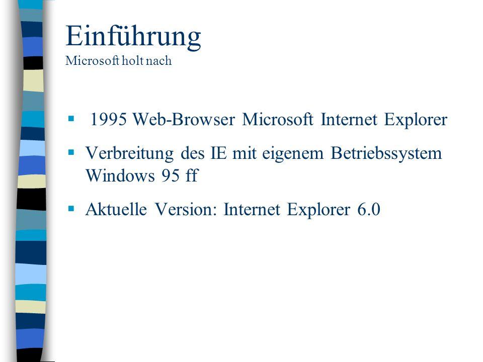 Einführung Microsoft holt nach