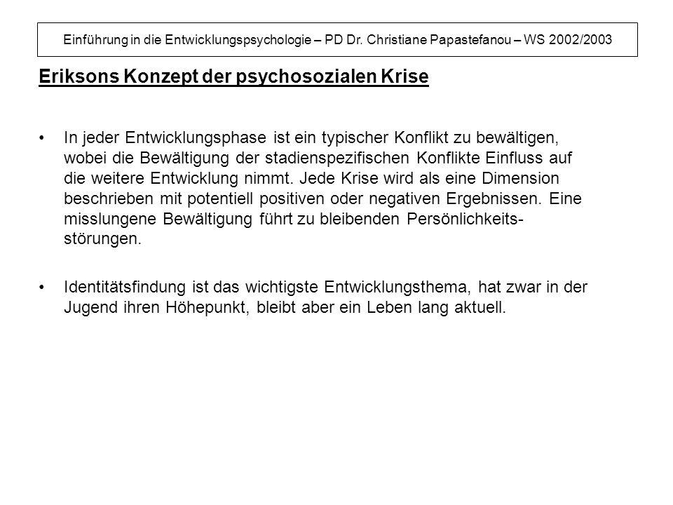 Eriksons Konzept der psychosozialen Krise