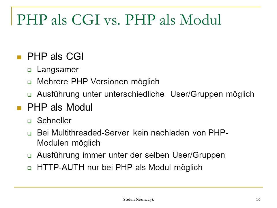 PHP als CGI vs. PHP als Modul