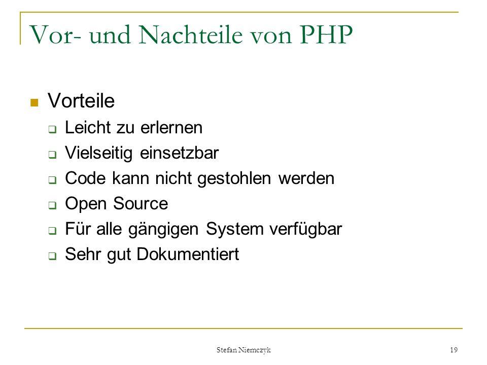 Vor- und Nachteile von PHP