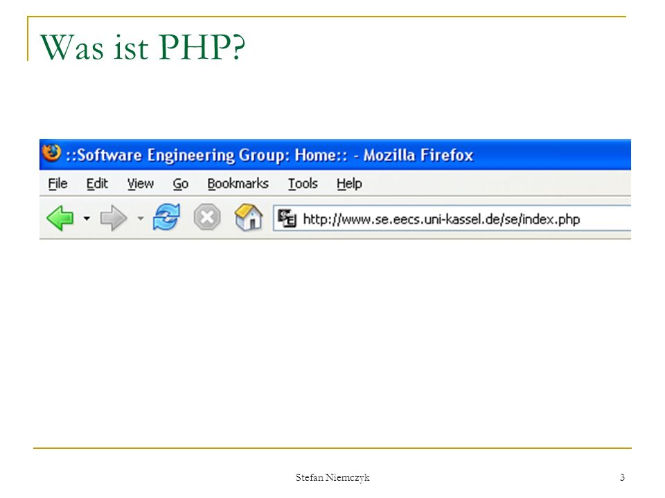 Was ist PHP Stefan Niemczyk