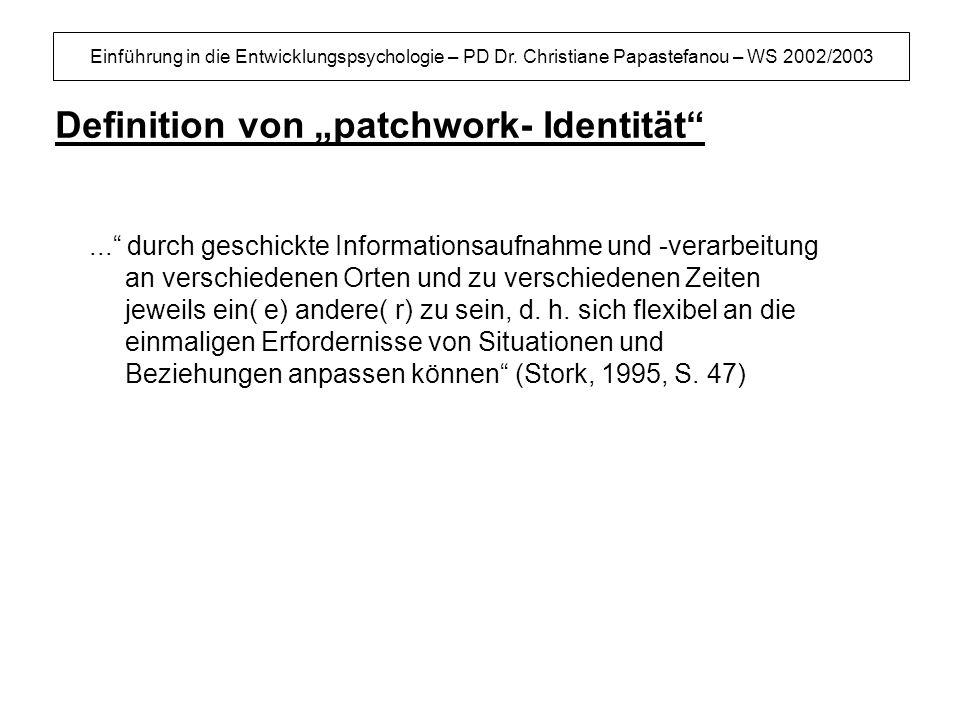 """Definition von """"patchwork- Identität"""