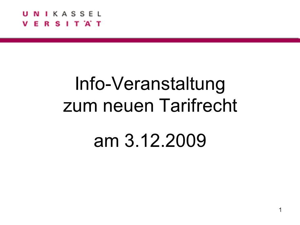 Info-Veranstaltung zum neuen Tarifrecht