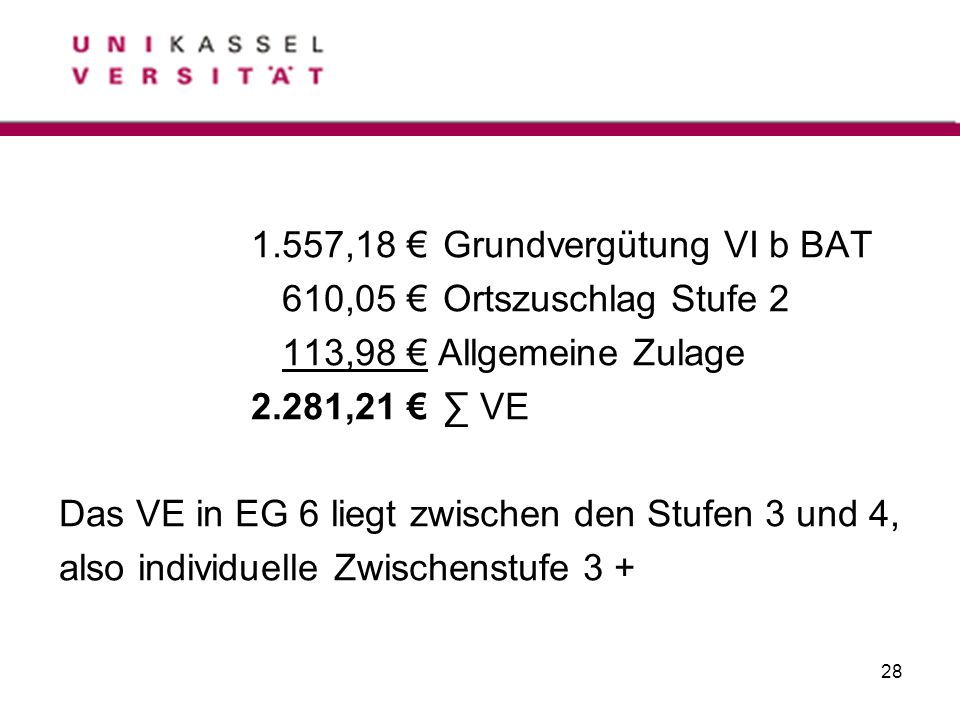 1.557,18 € Grundvergütung VI b BAT